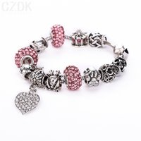 tibetan beads - 8 Colors High Quality European Tibetan Silver Beads Bracelets Bangles with Heart Pandent for Women DIY