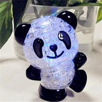 Wholesale New Lovely Panda Shape D Puzzles Practical Gift for Babies Cute Toys Creative Crystal Puzzle DIY Toy