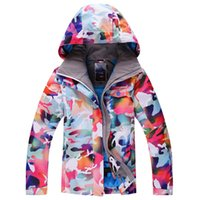 Wholesale 2015 Women Snowboard Jackets Camouflage Ski Jacket Female Waterproof Thick Thermal Camping Hiking Outdoor Jacket Gsousnow