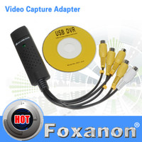 Wholesale USB Easycap Channel DVR CCTV Camera Audio Video Adapter Recorder for win7 vista mmm capture card