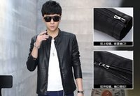 Wholesale Mens faux Leather outwear Look Motorcycle Rider Bomber Thick Jacket