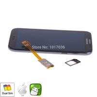 Wholesale Dual SIM Card Adapter for Samsung Galaxy S3 S4 S5 Note Nokia Nexus HTC One M8 Xperia Enable Use Extra Standard SIM Card