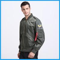 air industries - Fall Summer autumn lightweight thin Alpha Industries flight plain bomber jacket ma1 men ma air force jacket