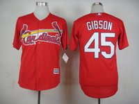 gibson - 2015 New Baseball Jerseys Cardinals Gibson Jersey New Red Color Stitched Size S XXL High Quality Mix Order