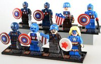 Wholesale SUBOR Captain America Super Heroes Minifigures Building Blocks Combined Educational Toys Gift for Kid
