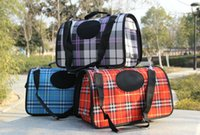 Wholesale 2015 pet shutter package pet special classic Plaid series of pet bag backpack bag multicolor