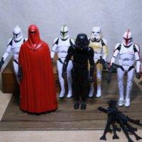 DHL New 15.16cm Star Wars Action Figures jouet cadeau enfant Stormtrooper Darth Vader avec une arme Doll modèle hauteur quatity C195