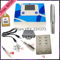 Wholesale Permanent Makeup Supply Eyebrow Lip Complete Tattoo Kits Power Supplies Round Tattoo Gun Machine P