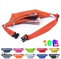 Wholesale Athletic Ourdoor bags small pocket Waist Bag Women Men Unisex Running sports waistpacks guard against theft Traveling passport packet