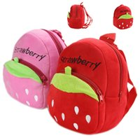 2016 Kids Schoolbags de bande dessinée bébé enfant petit sac Strawberry Young Toddlers Nursery sac à bandoulière SB010