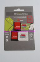 Wholesale 64GB Class Memory Micro SD Card TF Memory Card with Free Retail Blister Package Android Robot Grey Red