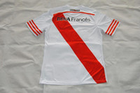 Río de la Plata 2014-15 camiseta de fútbol casero Jersey de la insignia del bordado de alta calidad de Tailandia de fútbol Uniforme, personalizar el nombre número de orden de la mezcla