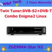 Wholesale Zgemma Star H2 Enigma2 Linux OS Zgemma star H2 with DVB T2 DVB S2 instead of Cloud Ibox SE For Italy Market