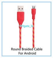 Wholesale 1pcs Braided Micro USB V8 Data Sync Charger Cable m Fabric Nylon Woven Cord for Galaxy S6 S4 S3 Note Sony