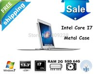 Wholesale inch Intel dual core i7 Laptop computer Ghz Quad Threads GB RAM GB SSD HDMI mAh Battery win7