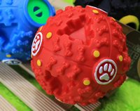 best dog food - Best price Funny Products Squeaky Feeding Food Ball Pet Dog Voice Sound Ball Toy Pets Training Tool
