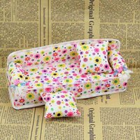 Wholesale Mini Furniture Flower Sofa Couch Cushions For Doll House Home Accessories order lt no track