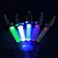 Wholesale DHL Bike Bicycle Car Wheel Tire Valve Cap Spoke Neon Flash LED Lights Lamp without Packing DY