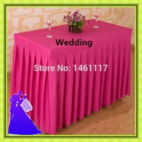 Wholesale new arrival rectangle polyester table skirt