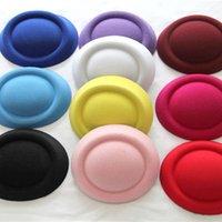 Tiaras fascinator base - 12pcs Hen Party Mini Top Hat Hair Fascinator base Woman Girls DIY Hair accessories