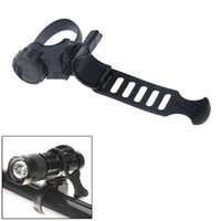 plastic flashlight - 360 Degree Rotatable Cycling Flashlight Holder Clip Bracket Plastic Rubber for Bike Bicycle Front Light Y0212