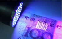 Cheap Ultra Violet Blacklight 21 LED Flashlight UV Torch Lamp Light DHL Fedex Free shipping