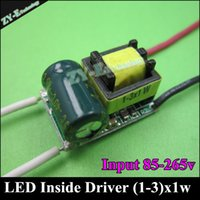 Wholesale pc Quality inside driver mA W LED Driver1W W W Lighting Transformers Power Supply for bulb Lihgt Lamp Durable freeship