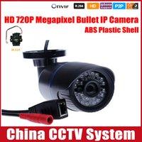 Wholesale 1280 P MP Bullet IP Camera IR Outdoor Security ONVIF Waterproof Night Vision P2P IP Cam IR Cut Filter Megapixel Lens