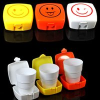 Wholesale Hot Sale Outdoor Folding Cup Telescopic Collapsible With Lid Travel Business Camping hv3n