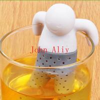 Wholesale piece Teapot cute Mr Tea Infuser Tea Strainer Coffee Tea Sets silicone fred mr tea