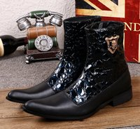 ankle wellington - 2017 Autumn winter high leather leisure for men s boots in British han edition tide wellingtons business personality outdoor boots