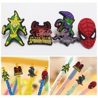 Wholesale 4pcs Spiderman Pen Decoration Pencil Cap School office supply Pen Topper Kids gift Lovely toys for student
