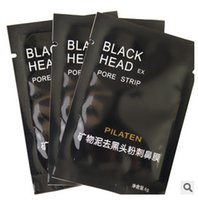 Wholesale Pilaten Mineral Mud Nose Blackhead Pore Strip men women Cleansing Cleaner Removal Membranes Strips remover facial mask peels
