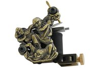 skull tattoo gun - Fire Skull Tattoo Machine empaistic gun wrap coil Black Rubber Band