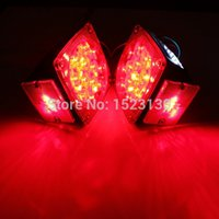 Wholesale 1Pair LED Submersible Square Tail Brake Light Side Marker Boat Trailer Under