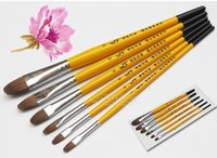 Wholesale DHL for set Hoarse Weasel Hair Painting Brush Set Watercolor Gouache Acrylic Paint Art