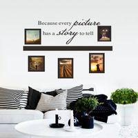 beautiful photos animals - Beautiful English Photo Frame Wall Sticker D Art Mural Home Decor Hot Size CM