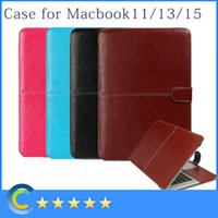 Wholesale PU Leather Case Folding Protective Sleeve Cover for Apple Macbook Air Inch Pro Inch Retina Inch