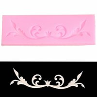 Wholesale Cake Decorating Lace Mold Flower Pattern Styling Tools Cake Decorating Mat Silicone Fondant Kitchen Silicone