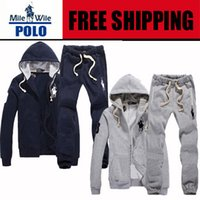 Wholesale 2015 Moleton Polo Zipper cardigan Sport Suits Tracksuits Mens Hoodies Fashion Coats Jacket set Pants Sportswear sweatshirt
