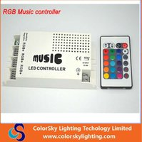 dim - DC12 V Keys Wireless IR Remote Control LED Music Sound rgb Controller Dimmer for RGB LED Strip and lamp