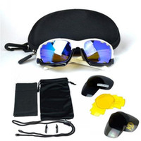 Wholesale 2015 New Brand Cycling Sunglasses Mens Goggles Eyewear Extra Pairs Lens Riding Driving Outdoors Sunglasses Hiking Polarizing Eyewear