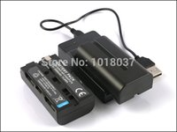 Wholesale NP F550 NP F570 Rechargeable Camera Digital Battery Micro USB Charger For Sony DSR PD100 PD100A PD150 PD150P PD170 PD170P