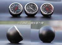 automobile desks - Fast New Arrival Creative Mini Fashion Automobile Quartz Clock Hygrometer And Thermometer Car Desk Clock