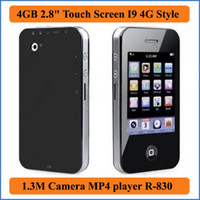 i9 - 4GB inches Touch Screen I9 G Style Mp3 Mp4 MP5 Player Camera Game E book FM Photo Video MP4 players R