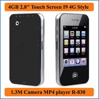 Wholesale Camera Card Readers - 8GB 2.8 inches Touch Screen I9 4G Style MP3 MP4 MP5 Player with Camera Game E-book FM Photo Video MP4 players R-830