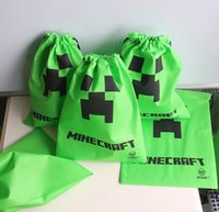 minecraft - DHL Free Minecraft Drawstring bag Minecraft Creeper Gift bags creeper JJ bag Minecraft Supplies environmental bags C001