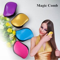 Wholesale Size cm Salon Styling Tools Detangler Magic Princess Comb Tangle Hair Brush Anti static Hairdressing TT comb Women TT Tangle Teezer
