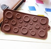 Wholesale 1PCS fastener shape Muffin Sweet Candy Jelly fondant Cake chocolate Mold Silicone tool Baking Pan DIY order lt no tracking