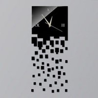 decorative clock wall clock - new decorative black wall clock contemporary style square x65 cm size silver